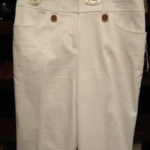 White tahari pants, slacks, size 4, front pockets